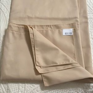 Beige Large Oblong Table Cloth